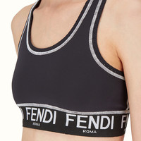 Top in black technical fabric - TOP | Fendi | Fendi Online Store
