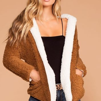 French Toast Sherpa Camel Jacket