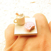 Kawaii Cookie Ring Food Hot Chocolate by SouZouCreations on Etsy