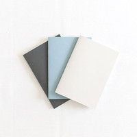 Pastel set of beige, blue and black notebooks (journals)