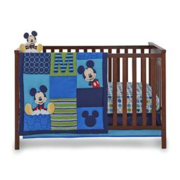 Infant Boy's 4-Piece Mickey Mouse Crib Bedding Set - Kmart