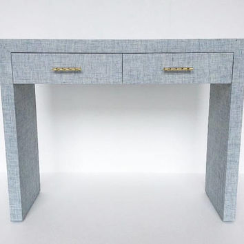 Custom Grasscloth Parson's Waterfall Desk/Table - Custom Built