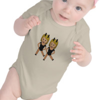 Woman With Bunny Ears Emoji Baby Bodysuit
