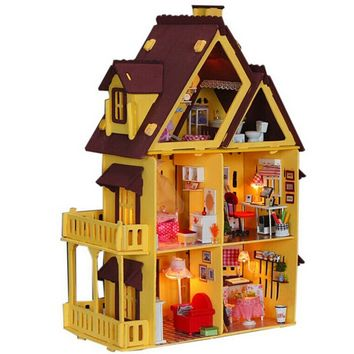Diy Doll House with Furniture Handmade Model Building Kits