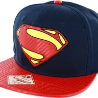 Superman Man of Steel Blue Snapback Cap