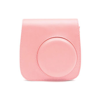 Fujifilm Instax Mini 8 Camera Bag Pink Leather Protection Case