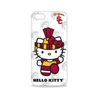 Tribeca Gear FVA7585 Hard Shell Case for iPhone 5 - Hello Kitty - University of Southern California - 1 Pack - Retail Packaging - White