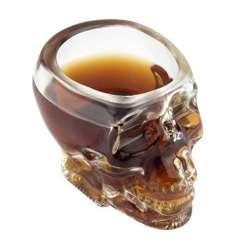Crystal Skull Drinking Glass - 1pc
