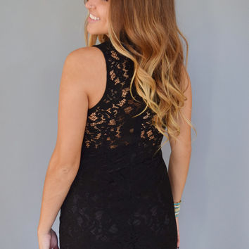 Uptown Lace Dress Black