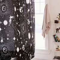Heather Dutton For Deny Solar System Shower Curtain | Urban Outfitters
