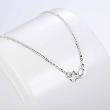 Hot Sale 925 Sterling Silver Link Chains Necklaces Fit For Pendant Charm For Women Men Luxury S925 Jewelry Gift CQA006