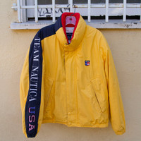 Vintage Nautica Team USA Puffy Coat Sz. M