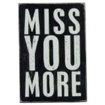 Miss You More - Mailable Wooden Greeting Card for Birthdays, Anniversaries, Weddings, and Special Occasions