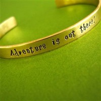 Adventure is out there! Cuff Bracelet - Spiffing Jewelry