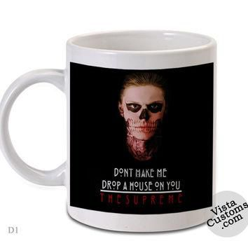 American horror story Supreme, Coffee mug coffee, Mug tea, Design for mug, Ceramic, Aw