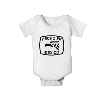 Hecho en Mexico Eagle Symbol with Text Baby Romper Bodysuit by TooLoud