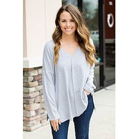 Free For All One Size Top - Grey