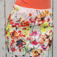 Pickin' Wildflowers Skirt: Multi