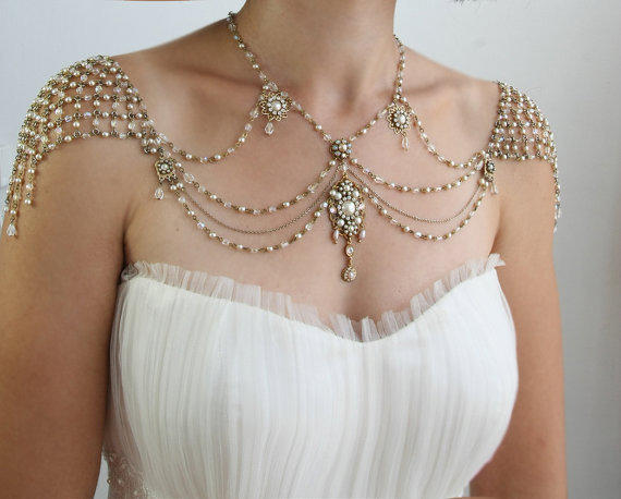Necklace For The Shoulders 1920s Style From Mylittlebride On