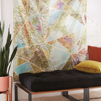 Fimbis For DENY Mixed Up World Tapestry | Urban Outfitters