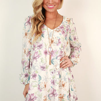 Kiss Kiss Floral Shift Dress