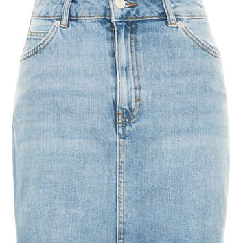 MOTO Denim Mini Skirt - Skirts - Clothing