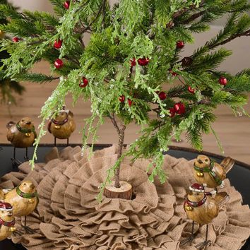 Ruffled Burlap Tree Skirts