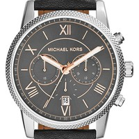 Men's Michael Kors 'Hawthorne' Chronograph Leather Strap Watch, 42mm