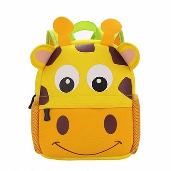 2017 3D Cute Animal Design Backpack Kids School Bags For Girls Boys Cartoon Shaped Children Backpacks