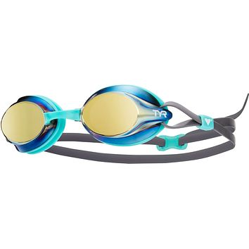 Tyr - Velocity Mint Swim Goggles / Mirrored Gold Lenses