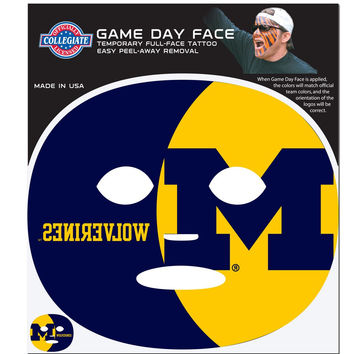 Michigan Wolverines Game Face Temporary Tattoo CGFD36