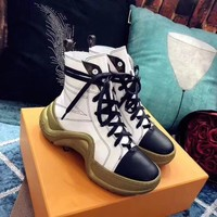 """""""LV"""" autumn and winter new boots"""