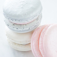 French Macaron Cookies 36 Pink SIlver Shimmer Trio Macaroons Gift Splendid Sweet