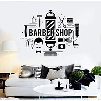 Vinyl Wall Decal Barbershop Hair Salon Stylist Barber Stickers Unique Gift (ig4296)