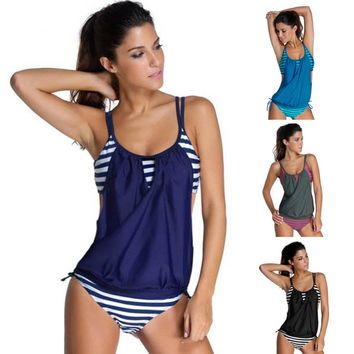 Sexcer Tankini Swimsuit female Bathing Suits Plus Size Two Piece Bikini Set Women Swimwear Brazilian 2018 Maillot De Bain