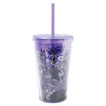 Straw Cup 18oz - Purple Glow in the Dark : Target