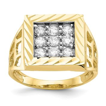 10k Yellow Gold Men's CZ Ring