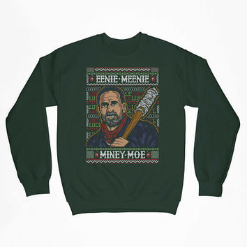 Eenie Meenie Miney Moe  Christmas Funny TV Parody Christmas CREWNECK Sweater Shirt Hoodie ugly Funny Mens Ladies cool COD-241