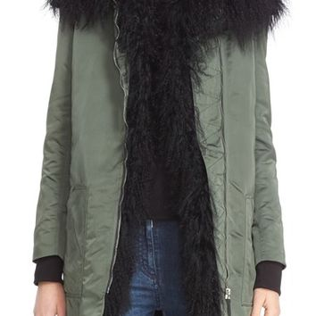Belstaff 'Thwaite' Nylon Parka with Removable Genuine Mongolian Lamb Fur Vest | Nordstrom