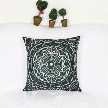 Pillowcase Bohemian Style Cushion Cover Cotton Linen Printed Chair Seat Size 45*45 Home Decorative Throw Pillow Cover