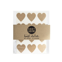 Kraft Heart Stickers