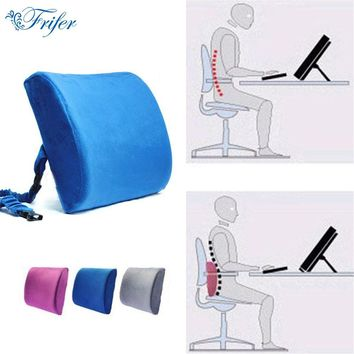Memory Foam Lumbar Back Support Cushion Resilience Pillow for Car Seat Traveling Massage Pillows Home Office Breathable Cushions