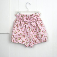 Bloomer Shorts Floral Pink Cotton Summer Beach 50's Inspired xs s m xl SALE 50% off