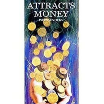 Incense Attracts Money - Box of Six 20 Gram Tubes - HEM Incense