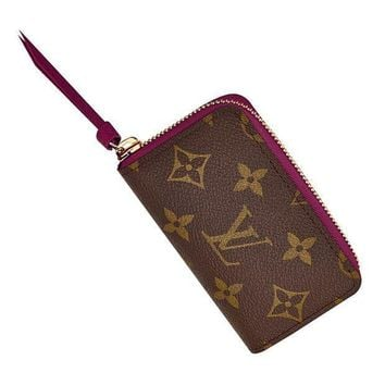 DCCK Louis Vuitton Monogram Wallets Canvas Zippy Multicartes M61299 Made in France