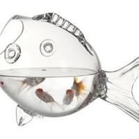 CLEAR FISH BOWL - CLEAR FISH SHAPED BOWL: Kitchen & Dining