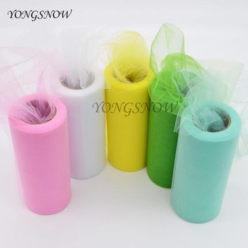 Tulle Roll 6''* 25 yard Organza Spool Tutu Scrapbooking Supplies Wedding DIY Party Baby Shower Decoration Suplies