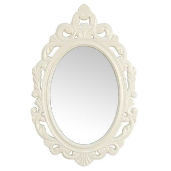 Cipolletti Glossy White Ornate Wall Mirror