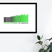 «Everything is music», Numbered Edition Fine Art Print by eDrawings38 - From $19 - Curioos