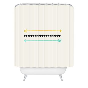 Allyson Johnson Minimal Arrows Shower Curtain